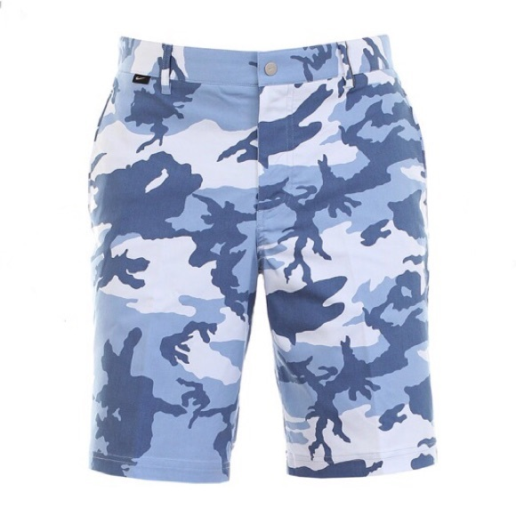 Nike golf blue camo modern fit dry-fit shorts 31606a31dc78